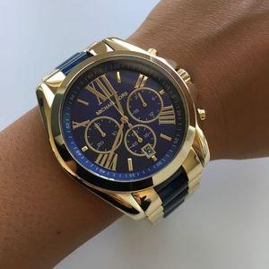 8c6b3298aa0e Michael Kors Accessories - NEW Michael Kors Gold and Blue Unisex Watch  MK6268